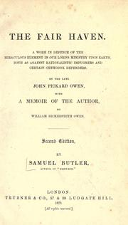 Cover of: The fair haven by Samuel Butler