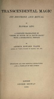 Dogme et rituel de la haute magie by Eliphas Lvi