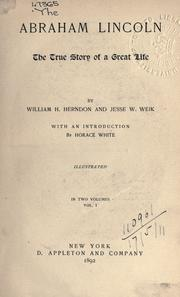 Cover of: Abraham Lincoln by William Henry Herndon