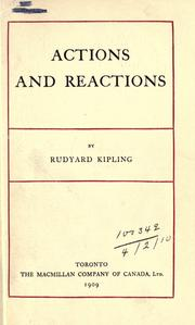 Cover of: Actions and reactions by Rudyard Kipling