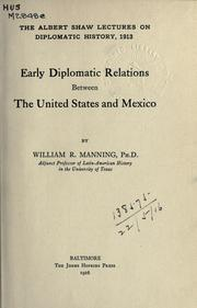 Early diplomatic relations between the United States and Mexico.