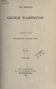 Cover of: The writings of George Washington by George Washington