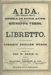 Ada by Giuseppe Verdi
