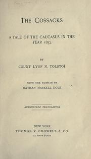 The Cossacks (Kazaki) by Leo Tolstoy