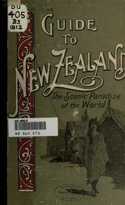 Cover of: Guide to New Zealand by C. N. Baeyertz