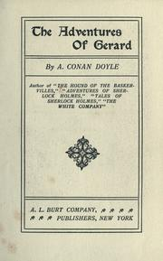 The Adventures of Gerard by Sir Arthur Conan Doyle