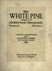 An architectural monograph on colonial architecture of the Eastern Shore of Maryland PDF