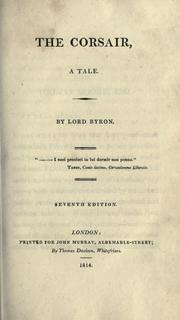 The corsair by Lord Byron