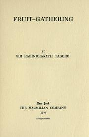Cover of: Fruit-gathering by Rabindranath Tagore