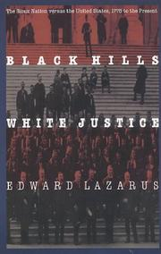 Black Hills White Justice by Edward Lazarus