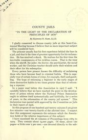 American prison association semi-centennial, 1870-1920 PDF