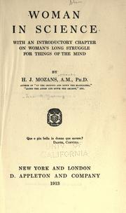 Cover of: Woman in science by John Augustine Zahm