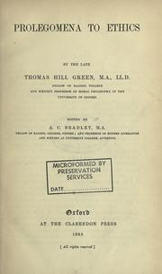 Prolegomena to ethics by Thomas Hill Green