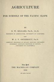 Agriculture for schools of the Pacific slope PDF