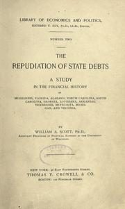 The repudiation of state debts by Scott, William Amasa