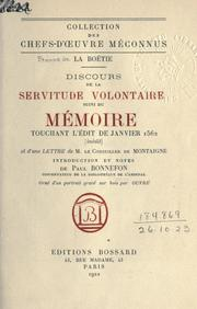 De la servitude volontaire by Estienne de La Botie