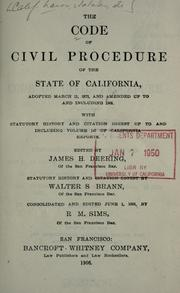 Code of civil procedure by California.