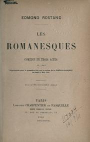 Les romanesques by Edmond Rostand