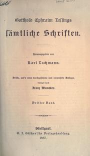 Smtliche Schriften by Gotthold Ephraim Lessing