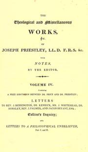 The theological and miscellaneous works of Joseph Priestley by Priestley, Joseph