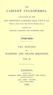 The history of maritime and inland discovery by William Desborough Cooley