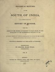 Historical sketches of the south of India PDF