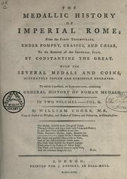 The medallic history of imperial Rome by William Cooke
