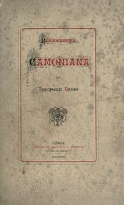 Bibliographia camoniana by Tefilo Braga