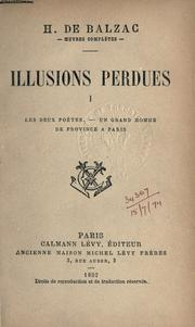 Illusions perdues by Honoré de Balzac