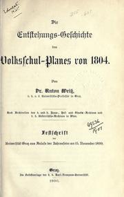 Die Entstehungsgeschichte des Volksschul-Planes von 1804 PDF