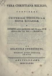 Vera Christiana religio by Emanuel Swedenborg