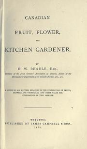 Canadian fruit, flower, and kitchen gardener PDF