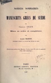 Notices sommaires des manuscrits grecs de Su PDF