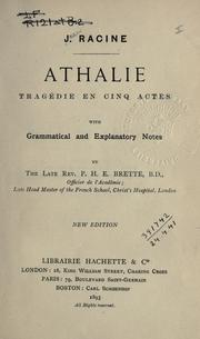 Cover of: Athalie by Jean Racine