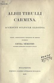 Carmina by Albius Tibullus