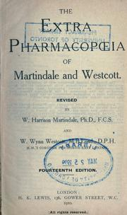 The extra pharmacopoeia of Martindale and Westcott by Martindale, William