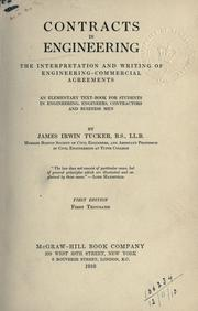 Cover of: Contracts in engineering by James Irwin Tucker