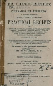 Dr. Chase's recipes, or, Information for everybody by A. W. Chase