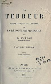 La terreur by Henri Alexandre Wallon