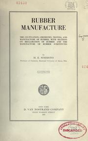 Rubber manufacture PDF