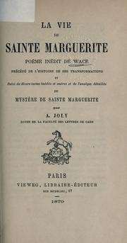 La vie de sainte Marguerite by Wace