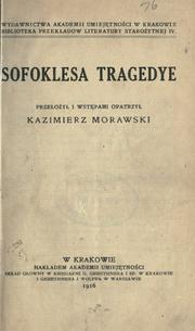 Cover of: Tragedye by Sophocles