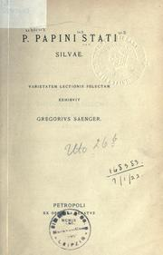 Cover of: Silvae by P. Papinius Statius