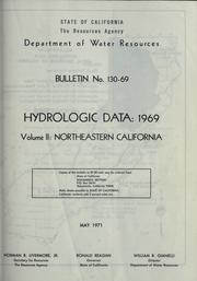 Hydrologic data, 1969 by California. Dept. of Water Resources.