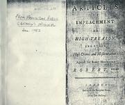 Articles of impeachment of high treason PDF