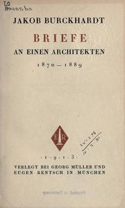 Briefe an einen architekten, 1870-1889 PDF