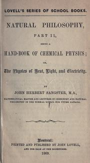 Natural philosophy by John Herbert Sangster