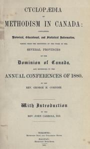 Cyclopaedia of Methodism in Canada by George H. Cornish