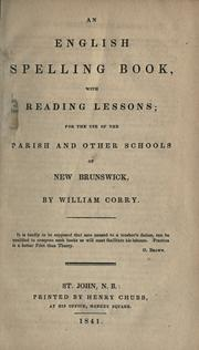 An English spelling book with reading lessons by William Corry