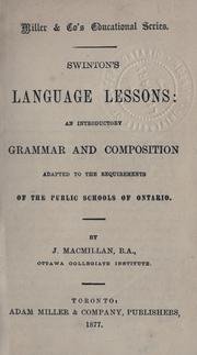 Swinton's language lessons by Swinton, William